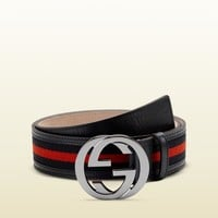 Gucci - belt with interlocking G buckle 114984H17AR8497