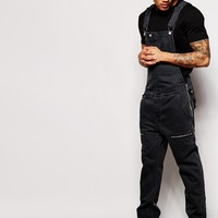 ASOS Denim Overalls With Biker Details