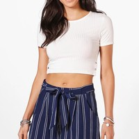 Sophie Stripe Woven Shorts | Boohoo