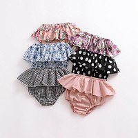 Summer Fashion baby girls boys shorts Newborn Baby Fold bloomers Girls Pattern Triangle Shorts toddler Trousers PP Pants Clothes