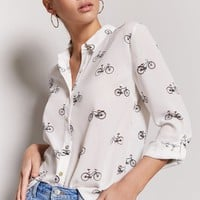 High-Low Bicycle Graphic Shirt