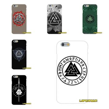 Viking warrior valknut odin logo Slim Silicone phone Case For iPhone X 4 4S 5 5S 5C SE 6 6S 7 8 Plus