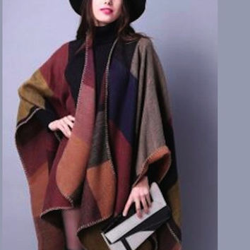 Winter/Autumn/Spring Poncho/Cape in 18 Patterns