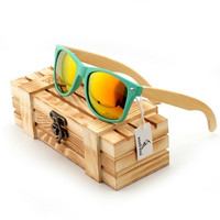 Polarized Sunglasses Bamboo Men and Women with Wooden Gift Box free shipping!! Estimated Delivery Time:10-15 days