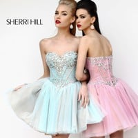 Sherri Hill 21156 Short Beaded Prom Dress