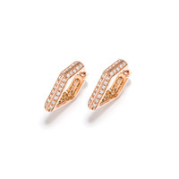 Double Micro Pave Hoop Earrings