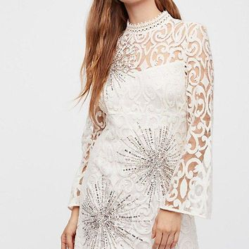 Free People North Star Mini Dress - Cream