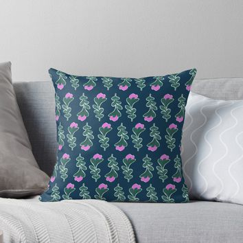 'Vintage Spring #redbubble #pattern' Throw Pillow by designdn