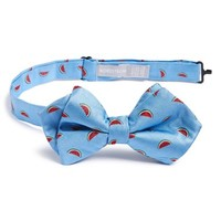 Boy's Nordstrom 'Watermelon' Silk Bow Tie - Blue