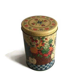 Cookie Tin, Tin Container, Tin Canister, Hallmark Tin