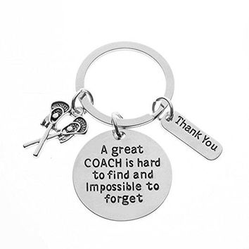 Lacrosse Great Coach is Hard to Find Coach Keychain