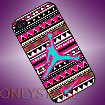 Jordan Air Nike Logo Aztec - Photo Print for iPhone 4/4s, iPhone 5/5C, Samsung S3 i9300, Samsung S4 i9500 Hard Case
