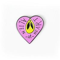 """Alien at Heart"" Pin"