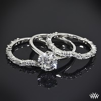 Custom Diamond and Baguette Contour Wedding Rings | 36104