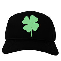 Lucky Four Leaf Clover St Patricks Day Adult Dark Baseball Cap Hat