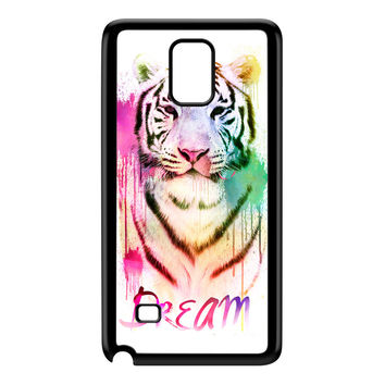 Watercolor Tiger 2 Black Hard Plastic Case for Galaxy Note 4 by Gangtoyz