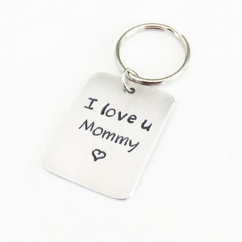Mothers day gift Mom birthday gift I love u Mommy keychain keyring or pendant necklace - Gift for mom