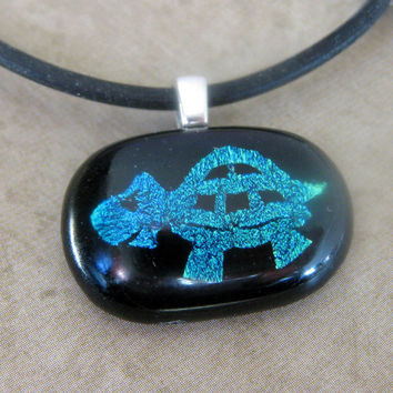 Turtle - Fused Glass Pendant by mysassyglass