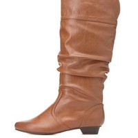 Mini-Heel Slouchy Mid-Calf Boots by Charlotte Russe