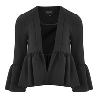 Crop Frill Detail Jacket | Topshop