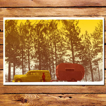 1950's Camping Poster
