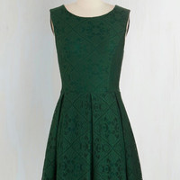 Mid-length Sleeveless A-line Happily Emerald After Dress