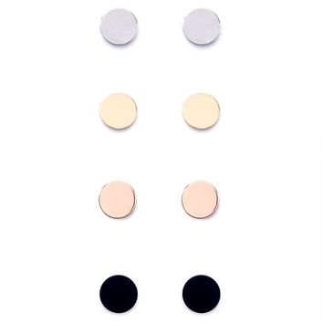 Disk Stud Earring Set