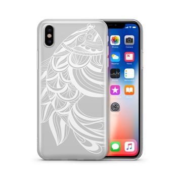 Henna Tribal Fish - Clear TPU Case Cover Phone Case