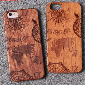 World Map Wood Samsung & iPhone Case