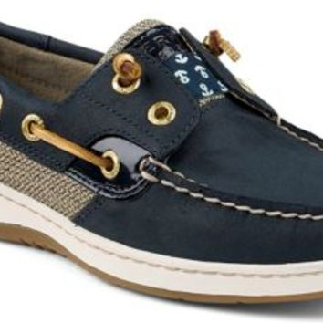 Sperry Top-Sider Rainbowfish Slip-On Boat Shoe NavyNubuck/Anchors, Size 11M  Women's Shoes