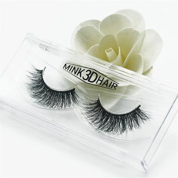 1 pair 3D Mink Eyelashes Handmade Lashes Thick Natural False Eyelashes for Beauty Makeup fake Eye Lashes