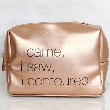 Cosmetic Bag Contoured Bronze