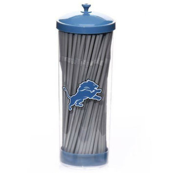 Detroit Lions Straw Dispenser-NFL Licensed Merchandise-Tailgate Party Supplies