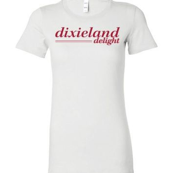 Official NCAA Venley University of Alabama Crimson Tide UA ROLL TIDE! Dixieland Delight Ladies Favorite Tee