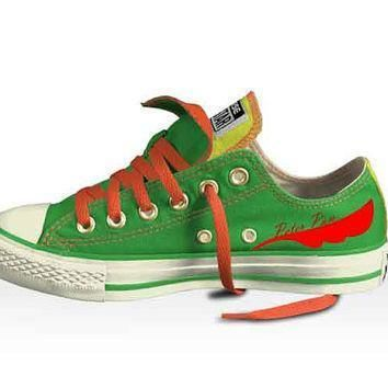 disney s peter pan low top double tongued converse