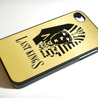 Last Kings Trill Hip Hop With Golden Background - iPhone 4 Case, iPhone 4s Case and iPhone 5 case Hard Plastic Case