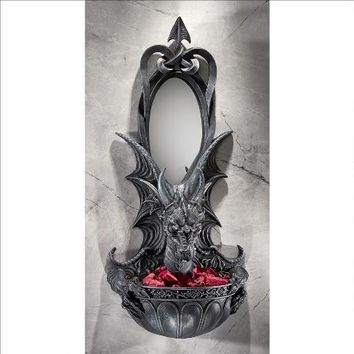 Grinsthorpe Castle Dragon Wall Sconce - Design Toscano