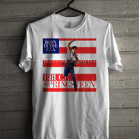 Bruce Springsteen T Shirt -tri1 Unisex T- Shirt For Man And Woman / T-Shirt / Custom T-Shirt