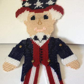 Cute little 4th of July Patriotic decor - Little man with arms & Legs that move