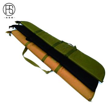 High Capacity 600D Oxford Fabric Fishing Rod Bag Fishing Tackle Bag 132X23X(3-12)cm Outdoor Hunting Shooting Rifle Holster
