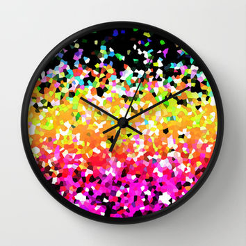 Mosaic Sparkley Texture G225 Wall Clock by MedusArt | Society6