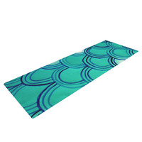 "Theresa Giolzetti ""Mermaid Tail"" Teal Blue Yoga Mat"
