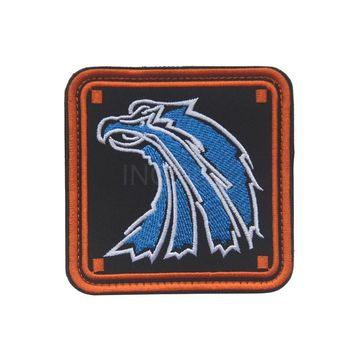 Embroidered Patch Russia Russian Blue Eagle Morale Patch Tactical Emblem Badges Embroidery Patches For Jackets Jean Backpack Cap