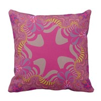 Bright Pink Star Pillow
