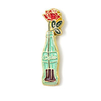 Cola Bottle Flower Pin