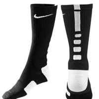 Nike Dri-Fit Elite Basketball Crew Socks Black Large
