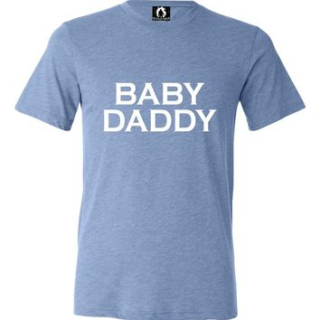 Adult Baby Daddy New Father Funny Triblend T-Shirt