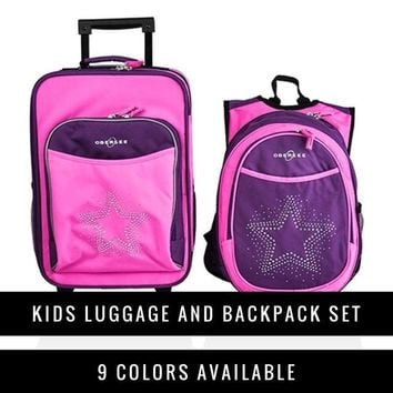 Obersee Kids Luggage and Backpack Set