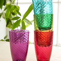 Honeycomb Colored Glass Set- Multi One