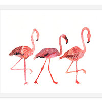 Michelle Morin, Flamingo Pillow, Paintings